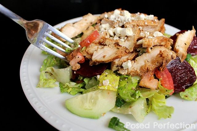 Lemon Chicken Greek Salad Large Family Meals Cheap Healthy