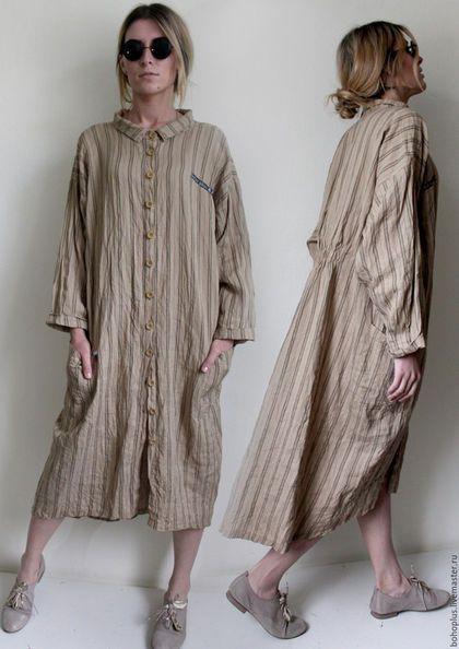 28aec28763c Платья ручной работы. Ярмарка Мастеров - ручная работа. Купить Платье -  рубашка из льна