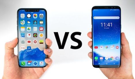 Comparison Iphone X Vs Samsung Galaxy S8 Iphone 8 Vs Nokia 8 Iphone Samsung Galaxy Samsung