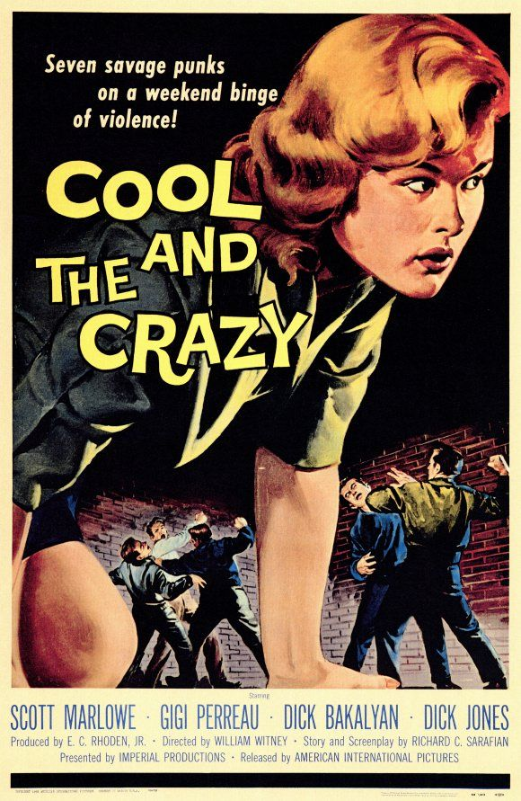 Cool and the Crazy #movie #poster (1958)