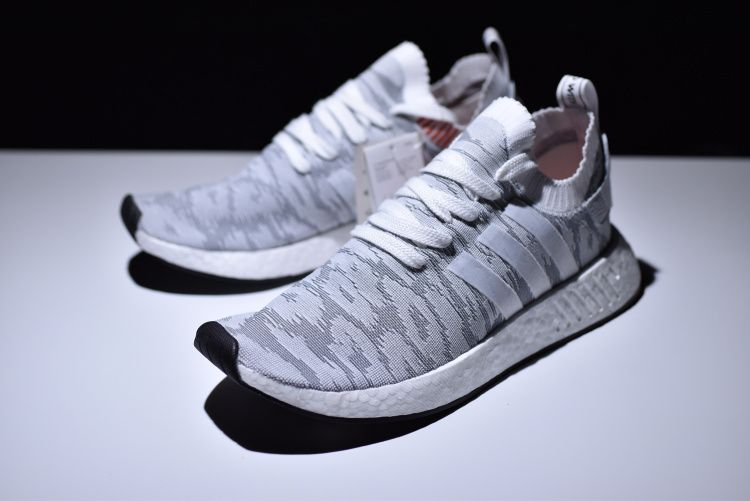 d22abee4c 2018 New adidas NMD R2 Primeknit White/Grey-Red Men's and Women's Size  BY9410