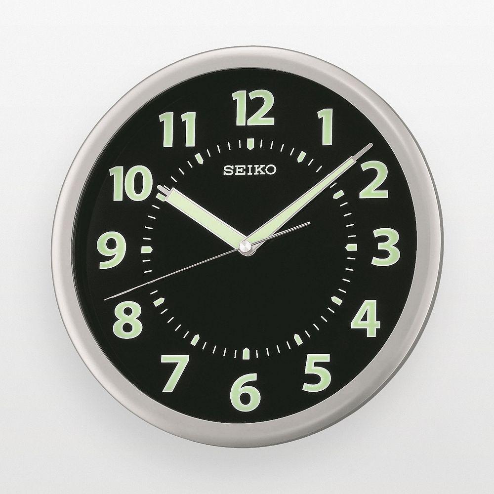 Seiko Silver Tone Wall Clock Qxa435slh In 2019 Clock