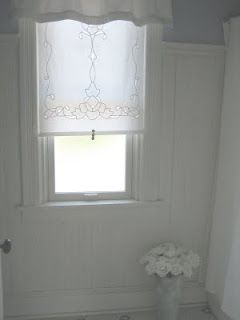 Cutwork Embroidery Roller Shade Add A Tassel Pull And It S Perfect Lace Window Curtains With Blinds Roller Shades