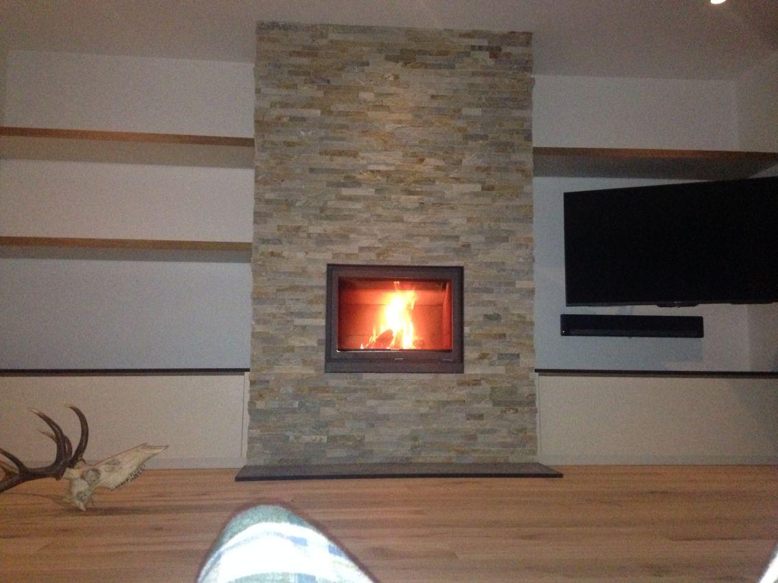 stuv 16 inset woodburner with split face tile chimney breast rh pinterest com
