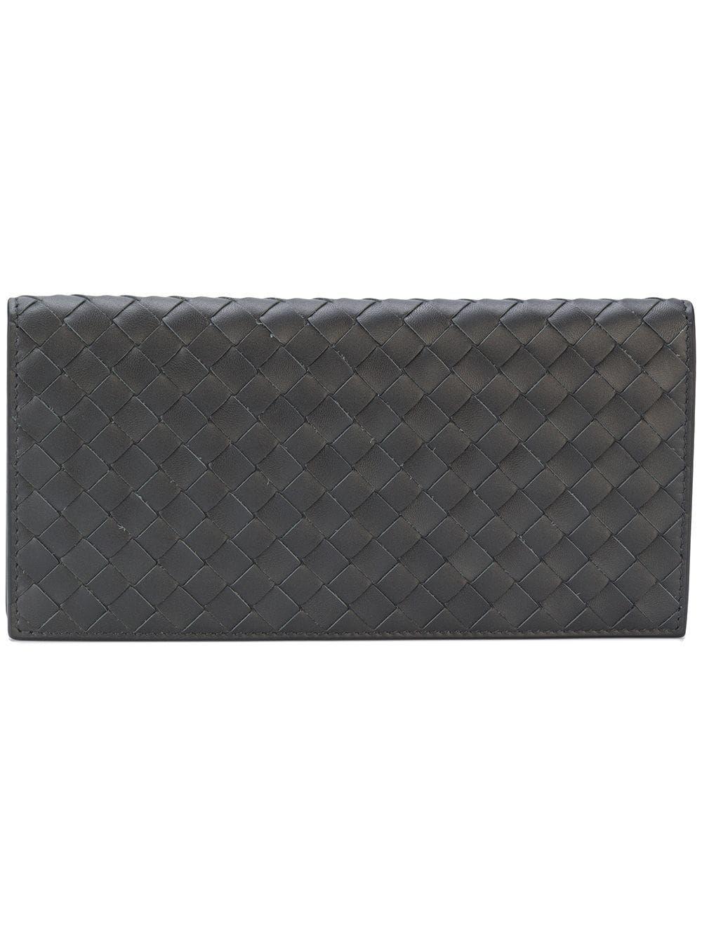 Bottega intrecciato weave continental wallet