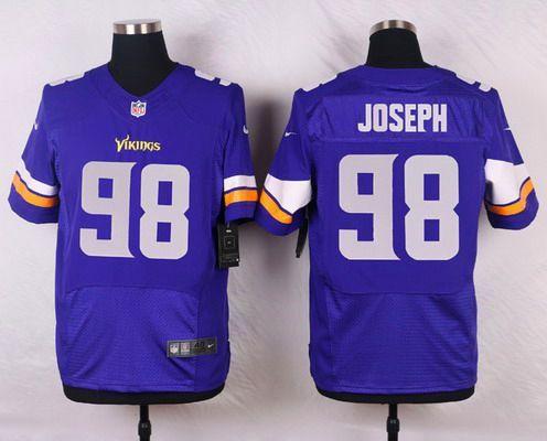Men's Minnesota Vikings #98 Linval Joseph Purple Team Color NFL Nike Elite Jersey