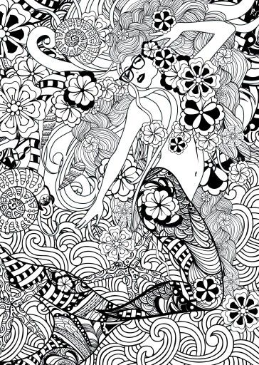 Free Colouring Page. | Free Colouring Pages - Mermaids & Fairies ...
