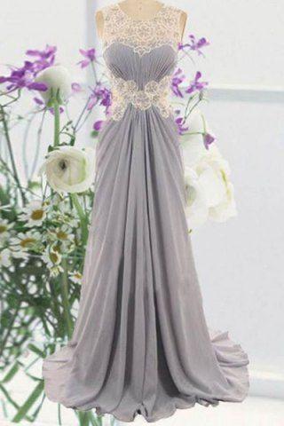dress with floral lace details