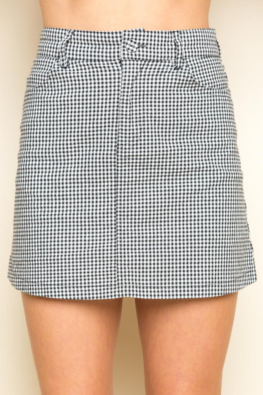 e10e651f7c Juliette Skirt | Brandy Melville | Skirts, Gingham skirt, Mini skirts