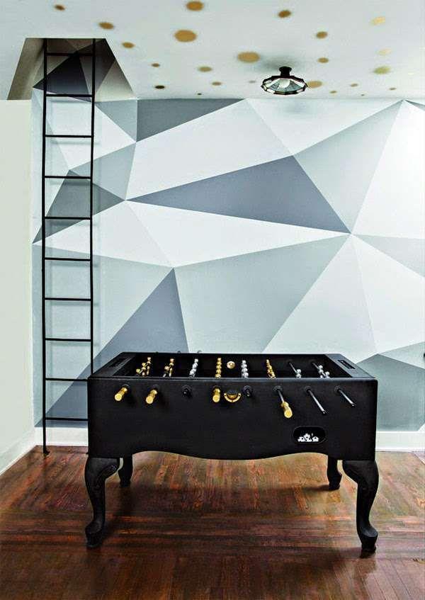 12 Paredes Com Triângulos E Algumas Boas Ideias A Mais In 2018 | Pinturas |  Pinterest | Wandgestaltung, Selbstgemachte Wandkunst Und Wandgestaltung ...