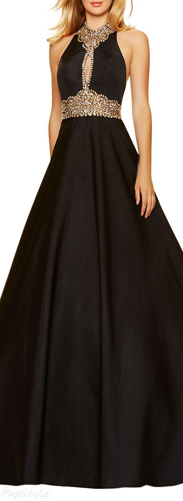 Lovingdress high neck satin u rhinestones evening gown elegant