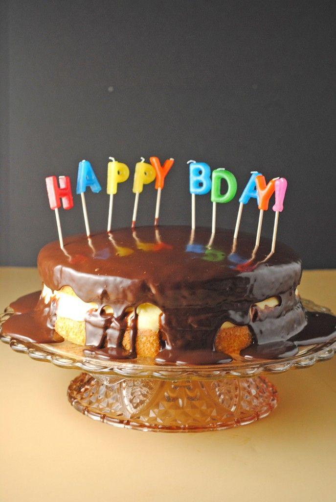 Boston Cream Pie With Chocolate Ganache From JuanitasCocina