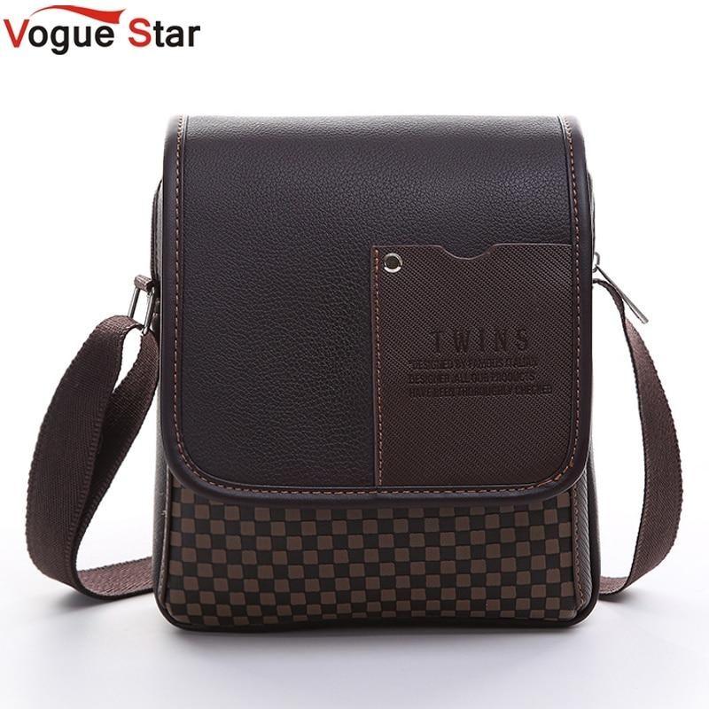 Vogue Star 2017 New hot sale PU Leather Men Bag Fashion Men Messenger Bag  small Business 9355dca286ed1