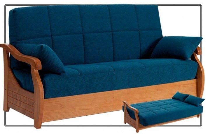 Sof cama clic clac con arc n tapizado en tela sof s for Sillones para apartamentos pequenos