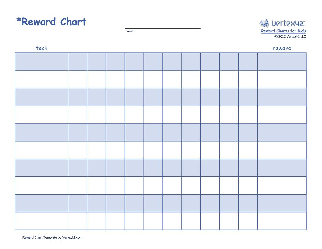 Free printable Reward Chart for Kids (PDF) from Vertex42.com ...