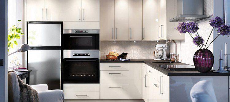 Cuisine cuisine blanc avec plan de travail noir : Plan de travail cuisine: 50 idées de matériaux et couleurs | Plan ...