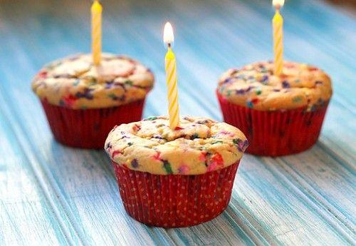 Birthday Cake Muffins Recipe Here