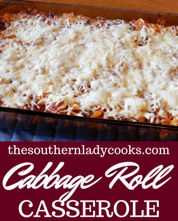 CABBAGE ROLL CASSEROLE - The Southern Lady Cooks