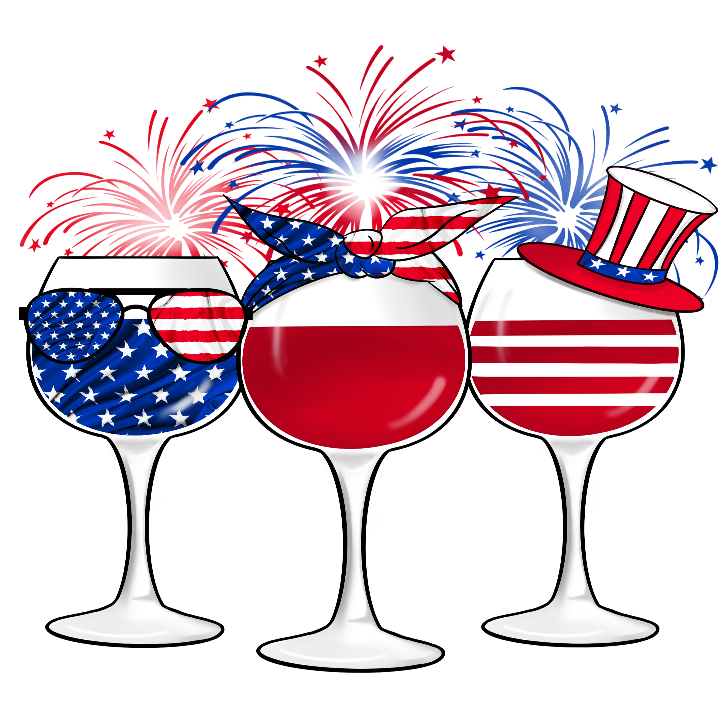 Patriotic Wine Glasses Sign, Signs, Wreath Sign, Craft Embellishment
