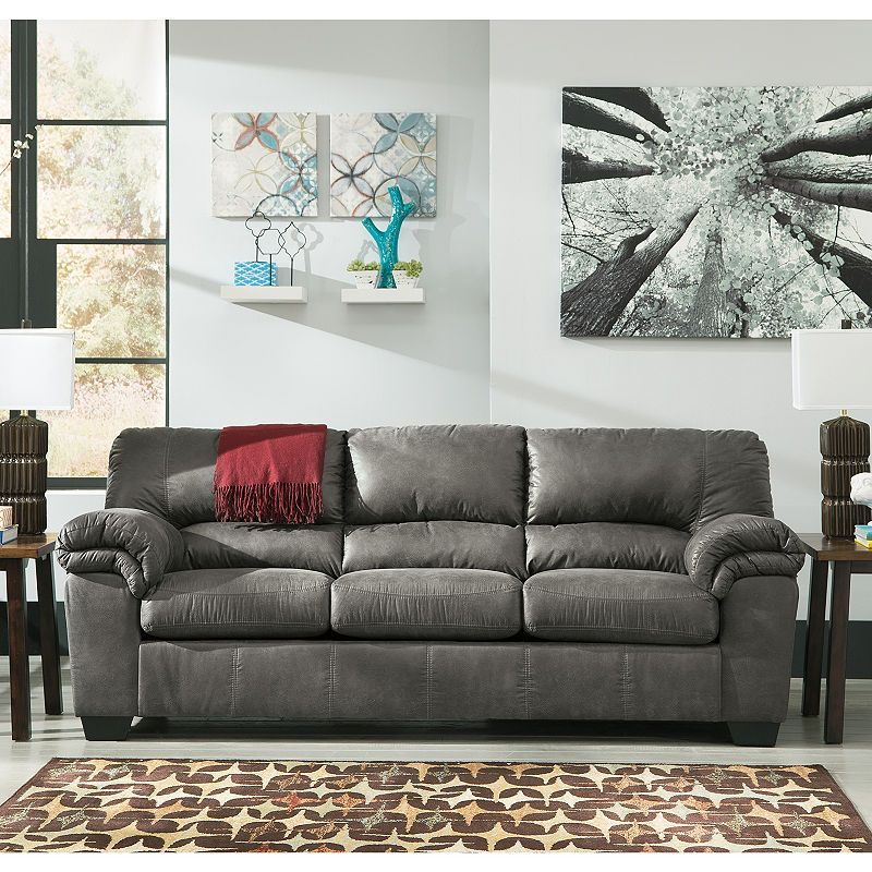 Signature Design By Ashley Blake Sofa Slate Sofa Sofa Set Living Room Leather