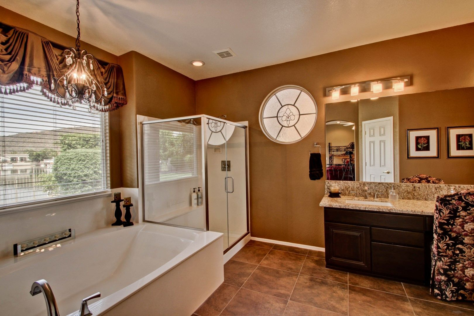 Huge master bathrooms - Huge Master Bathroom With Separate Shower And Oversized Tub Double Sinks Marble Counters