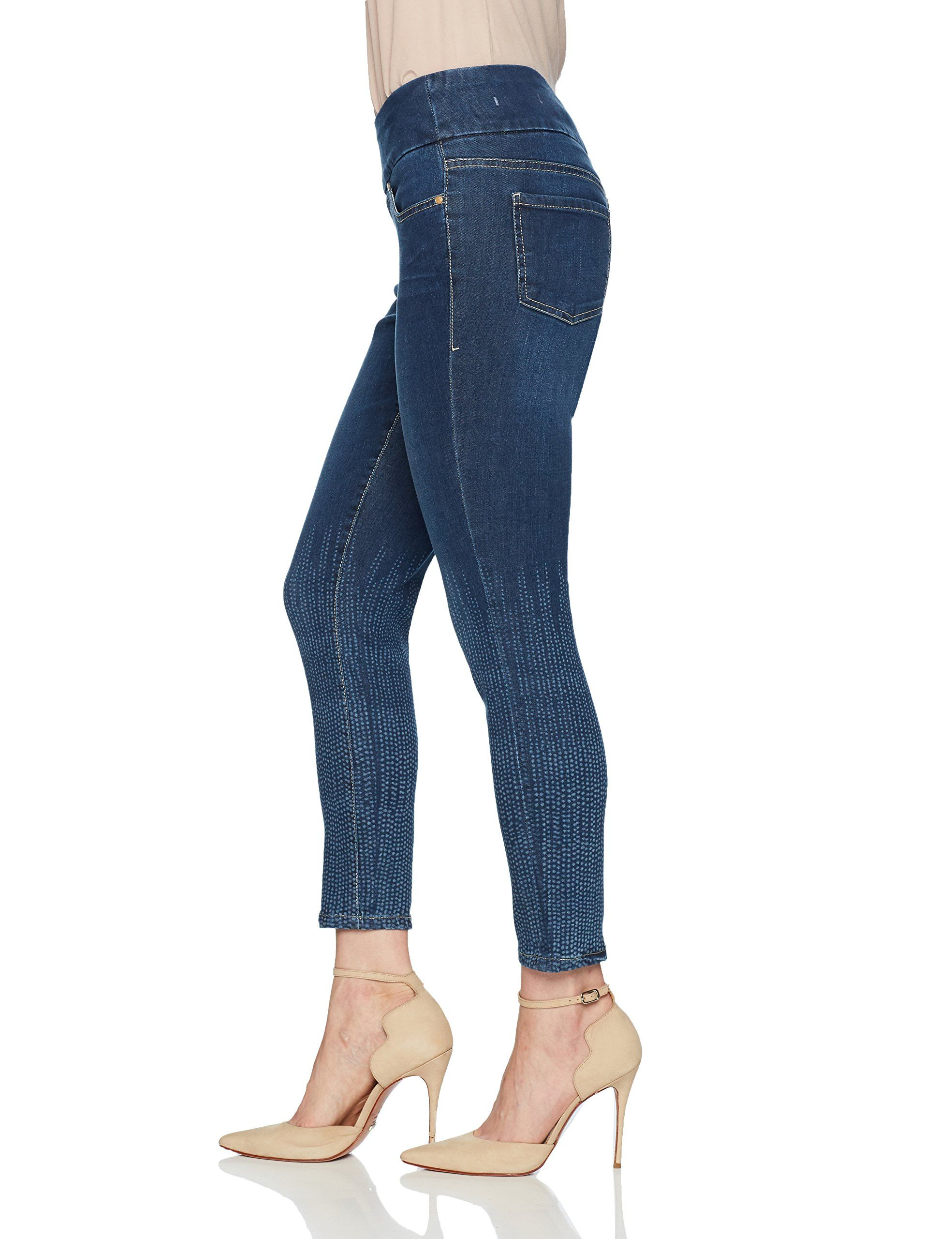 Jag Jeans Womens Nora Skinny Pull on Jean with Embroidery
