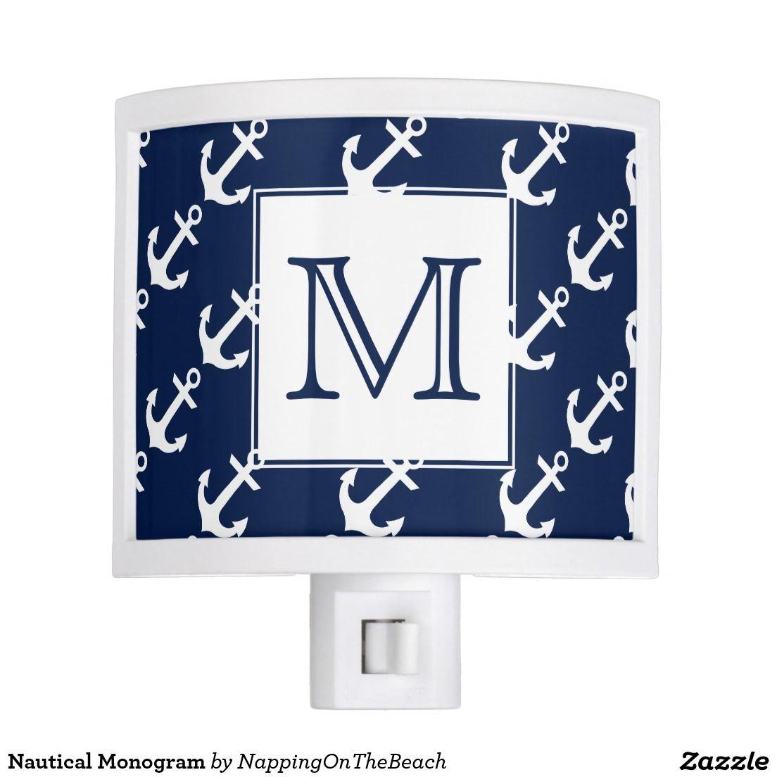 Nautical Monogram Nite Lites