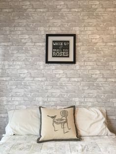 Loving This Feature Wall Made With White Brick Removable Wallpaper