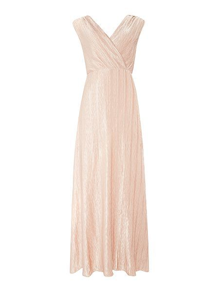 Sleeveless v-neck wrap maxi dress