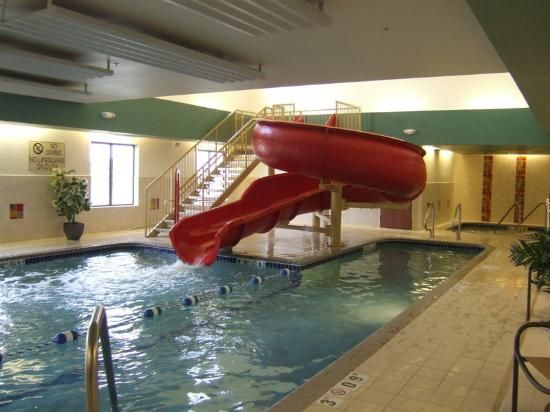Indoor Swimming Pool With Slides indoor pool with water slide | holiday inn express hotel & suites