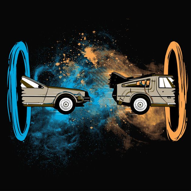 Back to the Portal T-Shirt $10 Back to the Future Portal mashup tee at ShirtPunch today only!