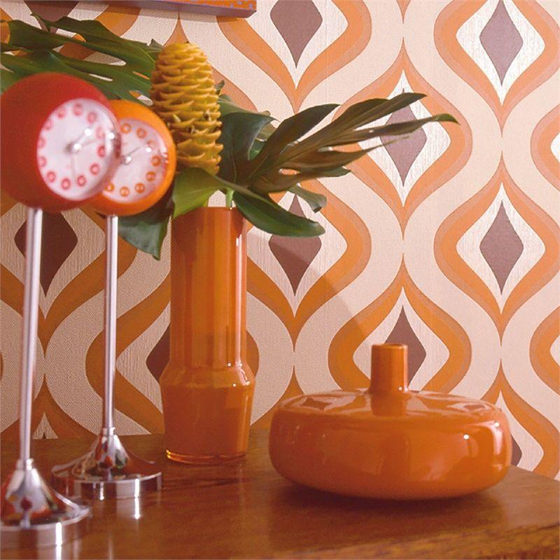 Find Superfresco Easy Paste The Wall Trippy Orange