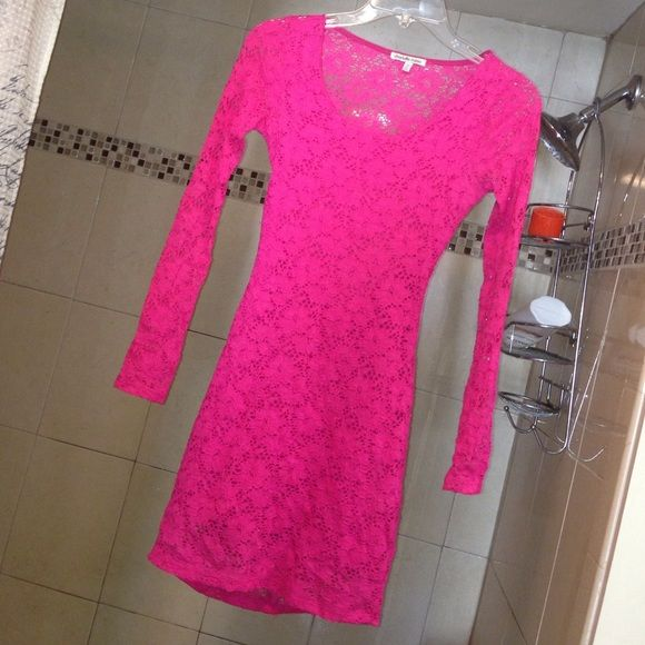 Pink Dress Pink Charlotte Russe Dress. Size XS. Open back! Fits tight and super cute! Charlotte Russe Dresses Mini