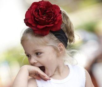 RuffleButts Red Rose Headband $9.50