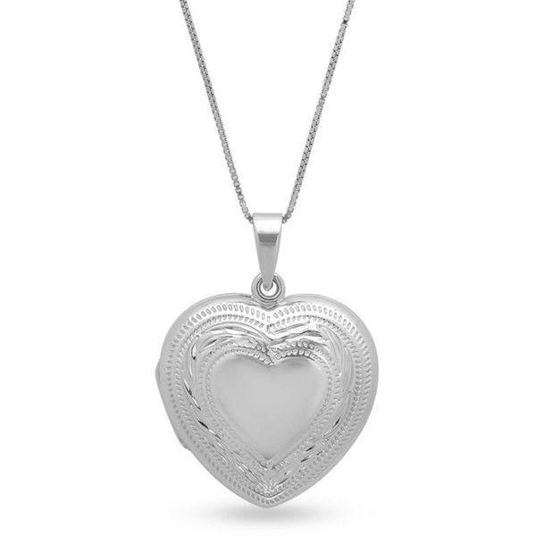 Belk co silver sterling silver heart locket pendant necklace 105 silver sterling silver heart locket pendant necklace 105 liked on aloadofball Choice Image