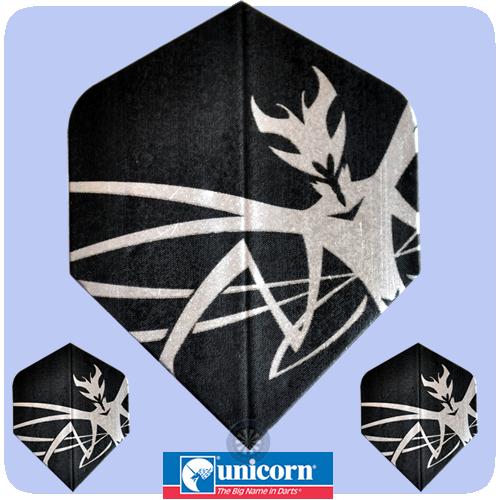 Unicorn Core 75 Dart Flights black//silver