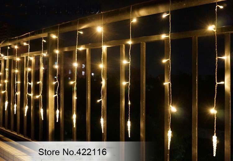 Icicle Ice Column LED String Holiday Curtain Lights, 4m 120 bulbs