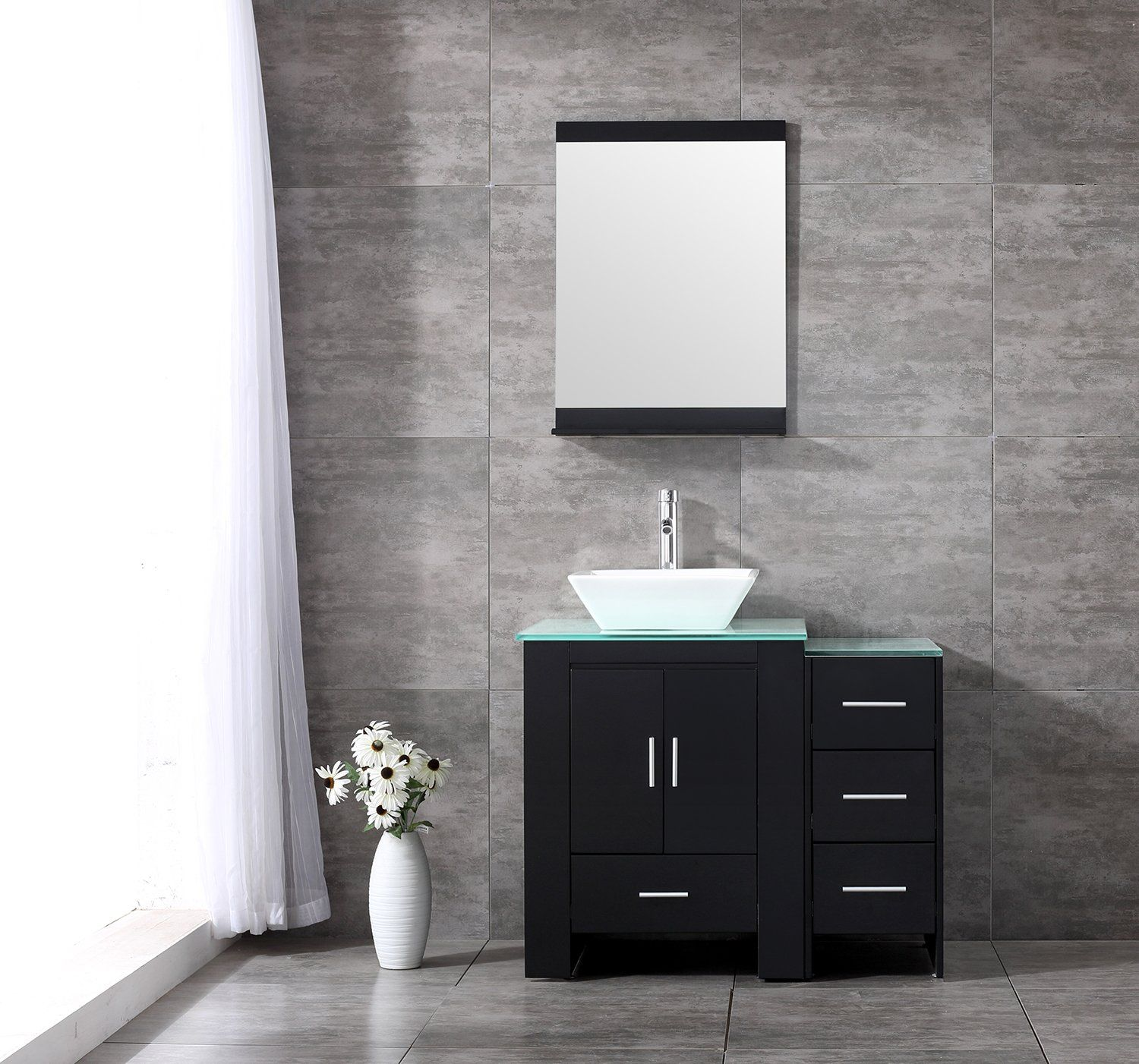 white bathroom vanity marble adelina inch top finish counter