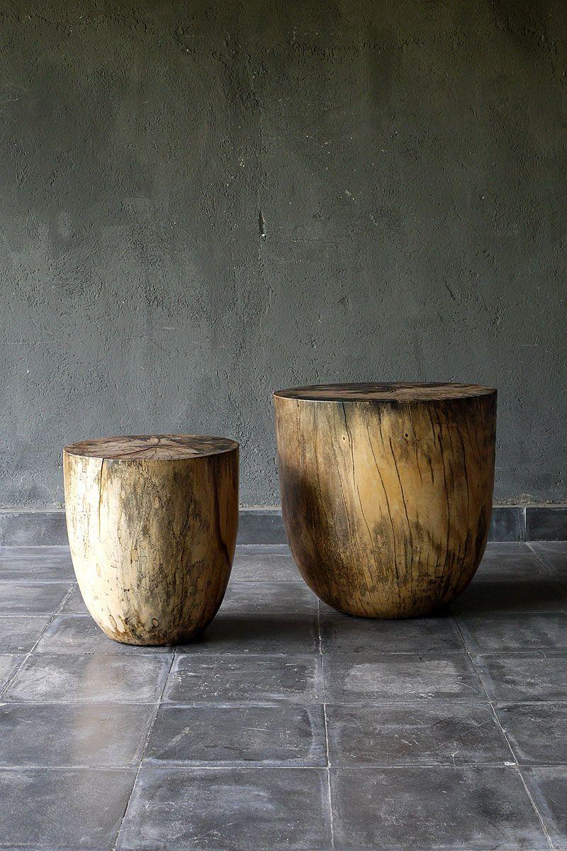 Stool Via Blaxsand Floors Log Furniture Trunk
