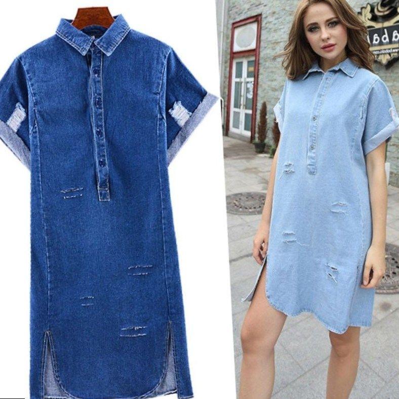 Pin by Anna Plus on Shirt fashion | Denim Shirt, Denim shirt dress ...