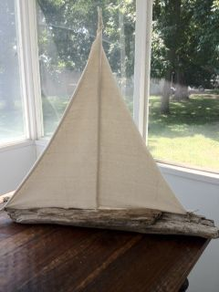 Large and very special driftwood boat by Bluwillowbungalow on facebook