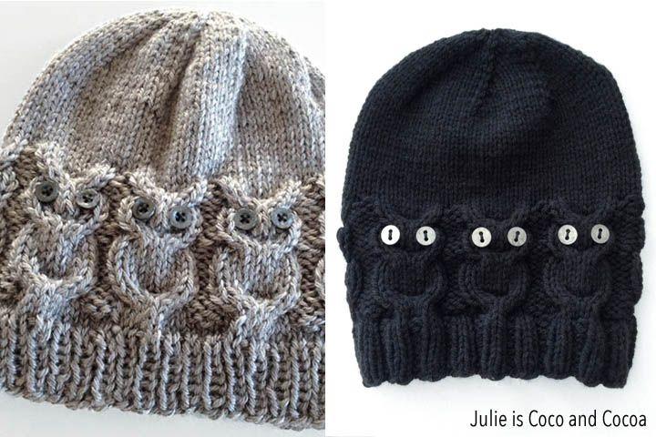 Owl Hat Knit Pattern Yarn Projects Pinterest Owl Hat Knit