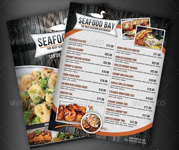 Seafood-Restaurant-Menu-Flyer Catering Menus Pinterest Flyer