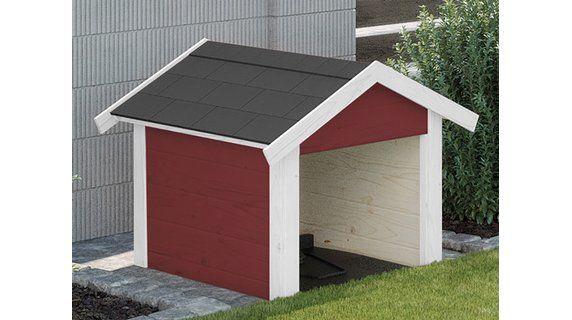 Weka Garage für Mähroboter Rot Garage mähroboter, Garage