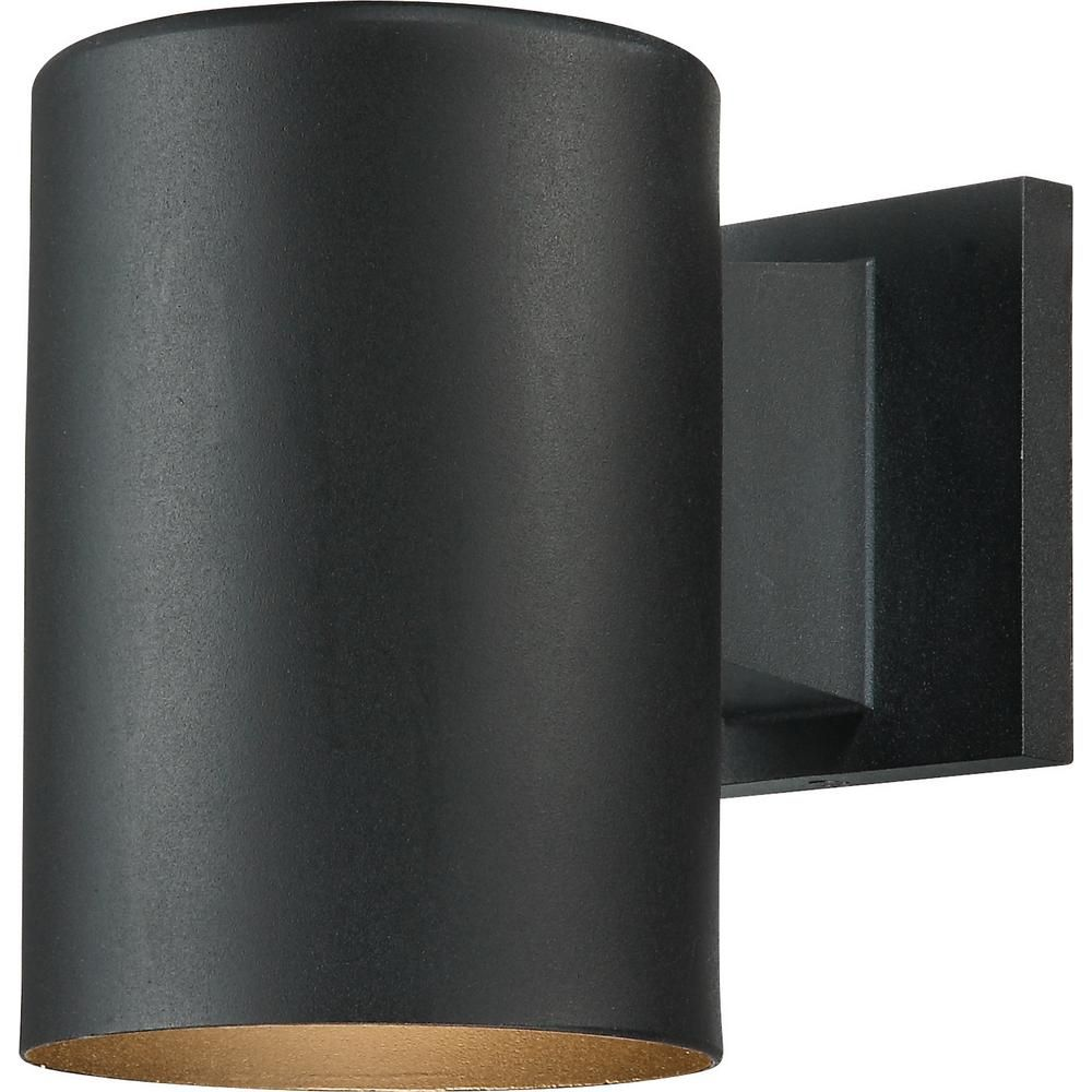 Volume Lighting 1 Light Black Aluminum Outdoor Cylinder Wall Lantern Sconce 9626 5 Outdoor Wall Lighting Outdoor Wall Sconce Wall Sconce Lighting