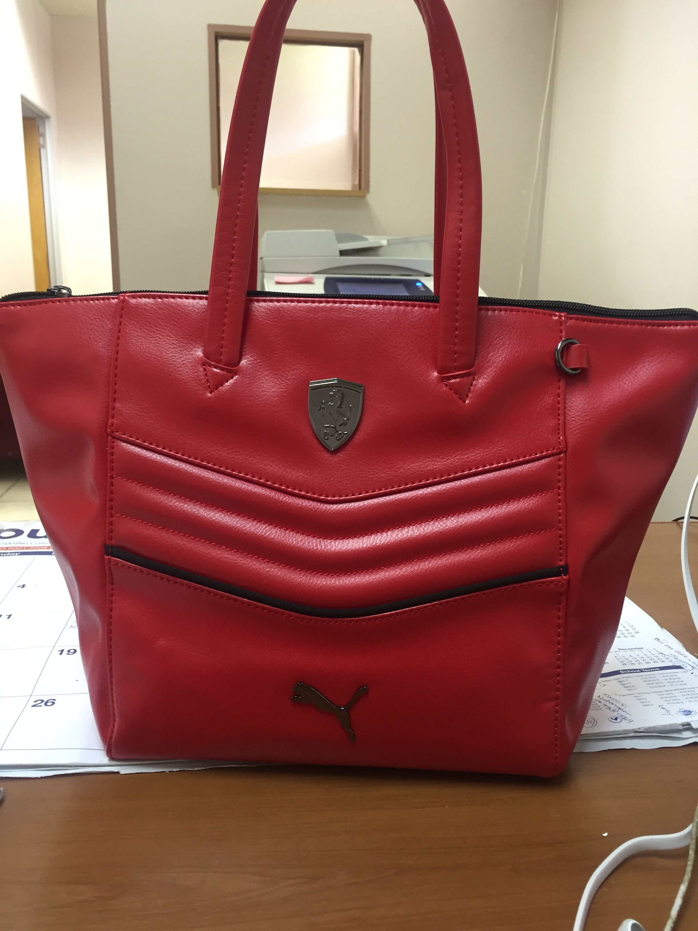 Puma handbag. Cos I'm a puma fan
