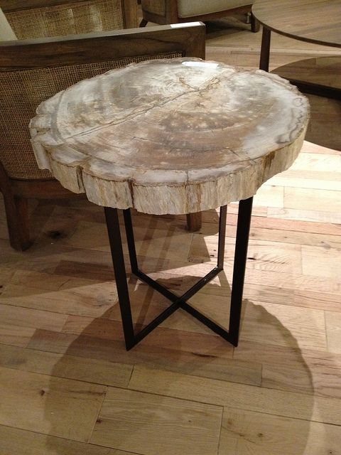 Petrified Wood End Table Wood End Tables Wood Table
