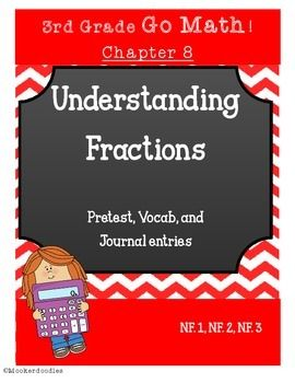 Go Math 3rd Grade Chapter 8 Understanding Fractions Resource Kit