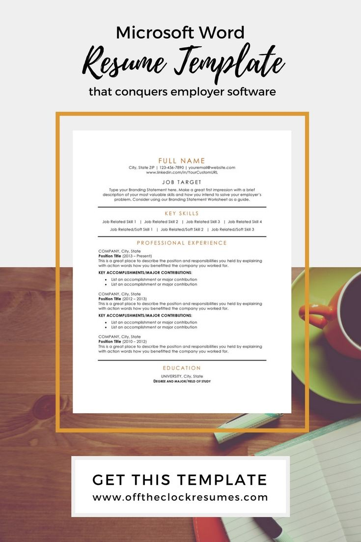 Modern Resume Template  Microsoft Word Microsoft Word Document