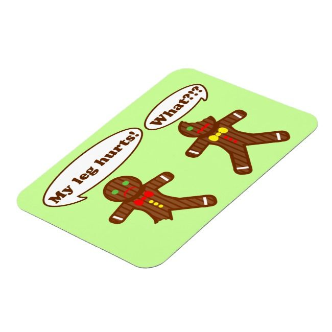 Gingerbread Humor green Magnet